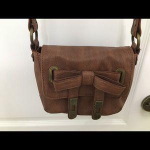 Kensie crossbody brown purse.